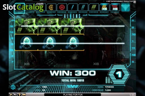 Tela3. Aliens (Slot de video a partir de NetEnt)