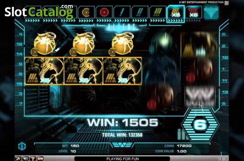 Tela4. Aliens (Slot de video a partir de NetEnt)
