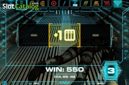 Tela5. Aliens (Slot de video a partir de NetEnt)