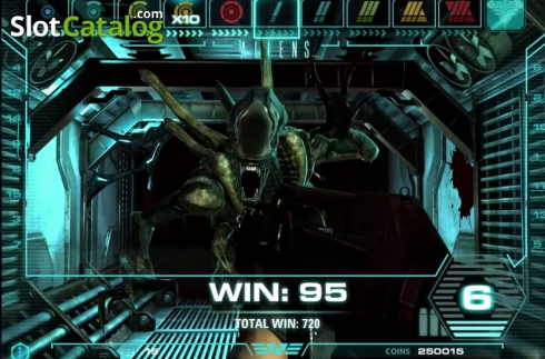 Tela6. Aliens (Slot de video a partir de NetEnt)