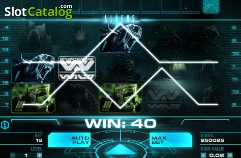 Tela8. Aliens (Slot de video a partir de NetEnt)