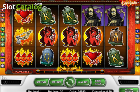Bildschirm2. Devil's Delight (Video Slot von NetEnt)