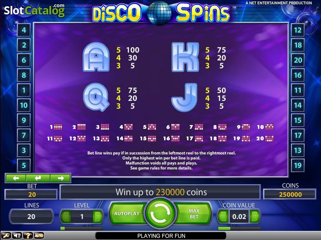 netent disco spins