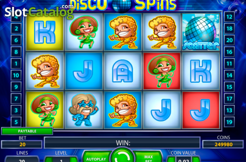 Ecran2. Disco Spins (Slot video din NetEnt)