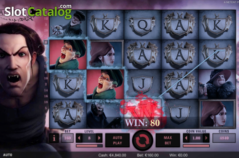 Obrazovka4. Dracula (Video Slot z NetEnt)