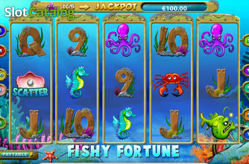 Skjerm2. Fishy Fortune (Video Slot fra NetEnt)