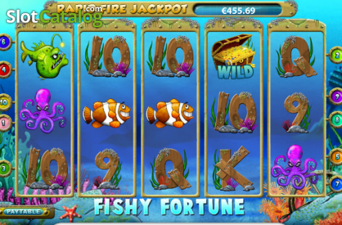 Skjerm4. Fishy Fortune (Video Slot fra NetEnt)