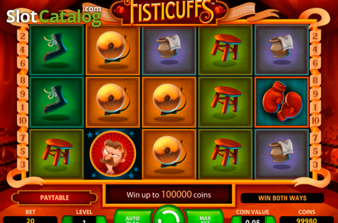 Scherm3. Fisticuffs (Video Slot van NetEnt)
