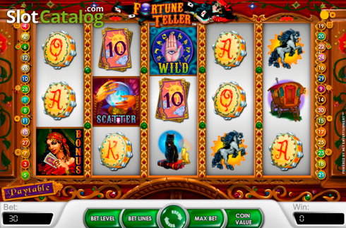Obrazovka2. Fortune Teller (NetEnt) (Video Slot z NetEnt)