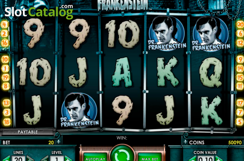 Ecran3. Frankenstein (Slot video din NetEnt)