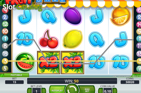 Bildschirm3. Fruit Shop (NetEnt) (Video Slot von NetEnt)