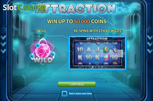 Screen7. Attraction (Video Slot from NetEnt)