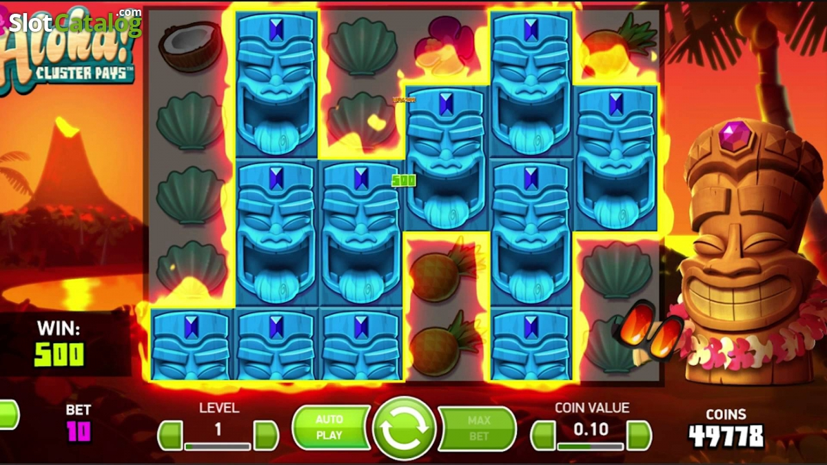 10 Free Spins For NetEnts Aloha! Cluster Pays Slot Game
