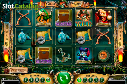 Screen2. Ghost Pirates (Video Slot from NetEnt)