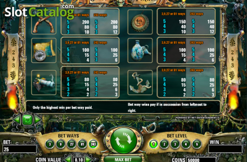 Screen6. Ghost Pirates (Video Slot from NetEnt)