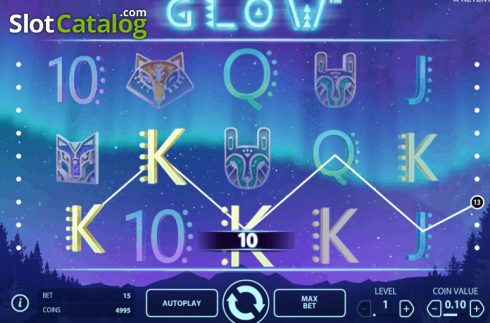 Tela3. Glow (Slot de video a partir de NetEnt)