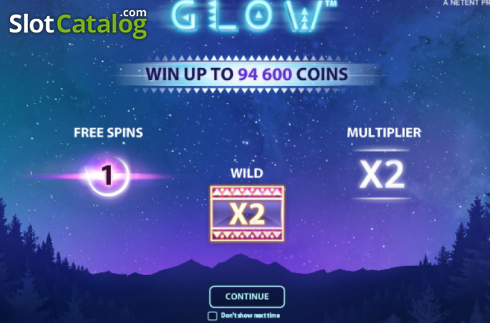 Tela5. Glow (Slot de video a partir de NetEnt)