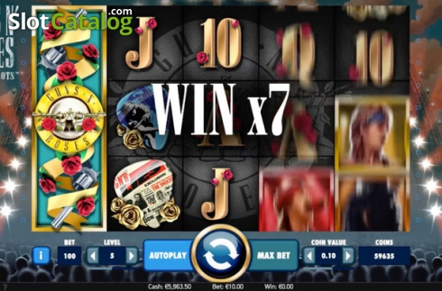 Màn2. Guns N' Roses (Video Slot từ NetEnt)