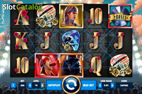 Màn4. Guns N' Roses (Video Slot từ NetEnt)