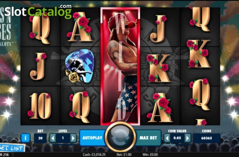 Màn5. Guns N' Roses (Video Slot từ NetEnt)
