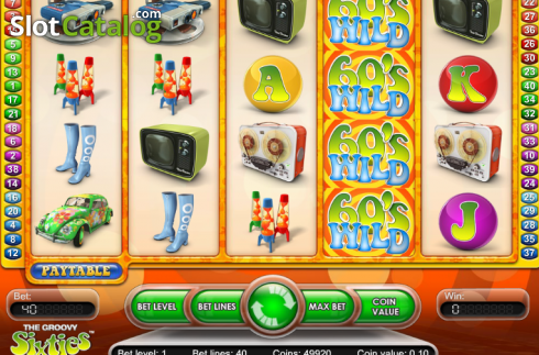 Ecran3. The Groovy Sixties (Slot video din NetEnt)