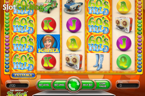 Ecran4. The Groovy Sixties (Slot video din NetEnt)