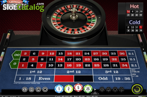 Screen2. American Roulette (NetEnt) (Roulete from NetEnt)