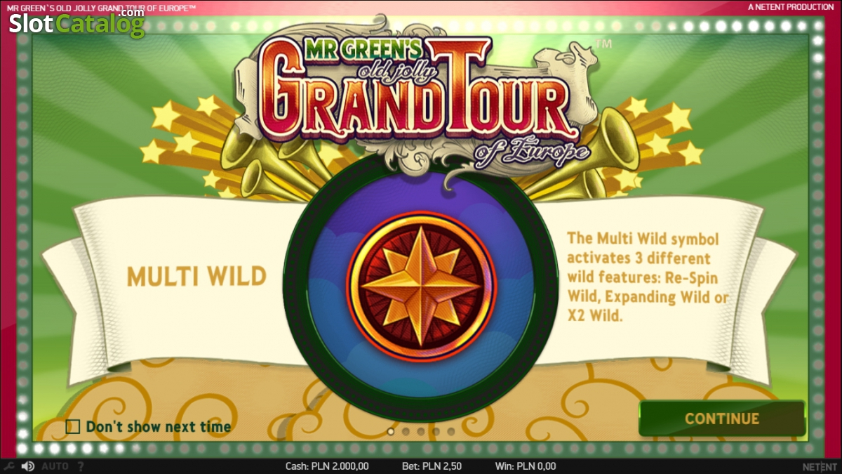 Mr. Greens Grand Tour Slot - Play for Free & Win for Real