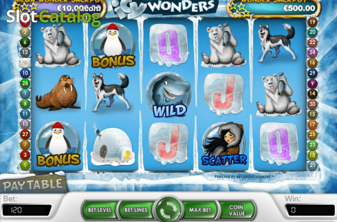 Screen3. Icy Wonders (Video Slot from NetEnt)