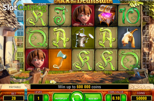 Skärm2. Jack and the Beanstalk (Video Slot från NetEnt)