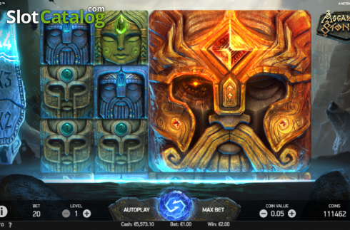 Game Workflow screen 2. Asgardian Stones (Video Slot from NetEnt)