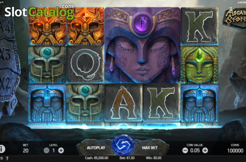 Game Workflow screen . Asgardian Stones (Video Slot from NetEnt)
