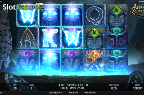 Free Spins Win Screen 2. Asgardian Stones (Video Slot from NetEnt)