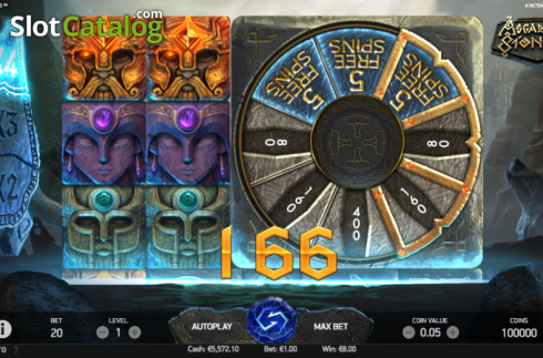 Bonus Wheel. Asgardian Stones (Video Slot from NetEnt)