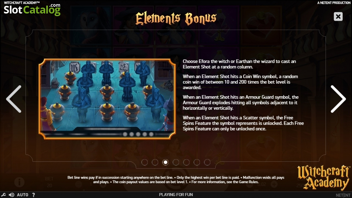 Review of witchcraft academy video slot from netent slotcatalog paytable 3 biocorpaavc Choice Image