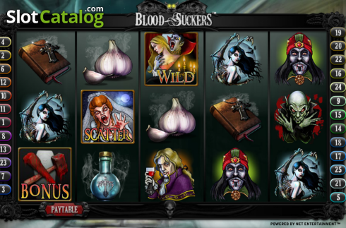 Bildschirm2. Blood Suckers (Video Slot von NetEnt)