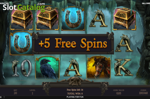 Free spins screen 1. Halloween Jack (Video Slot from NetEnt)