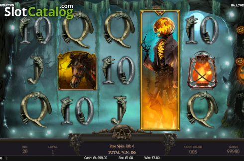 Free spins screen 4. Halloween Jack (Video Slot from NetEnt)