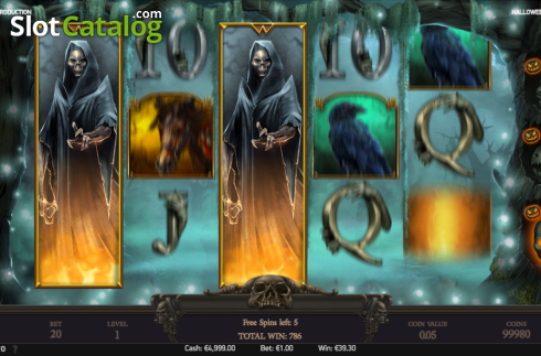 Free spins screen 6. Halloween Jack (Video Slot from NetEnt)