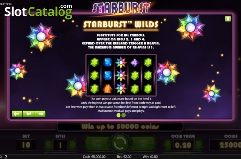 Screen4. Starburst (Video Slot from NetEnt)