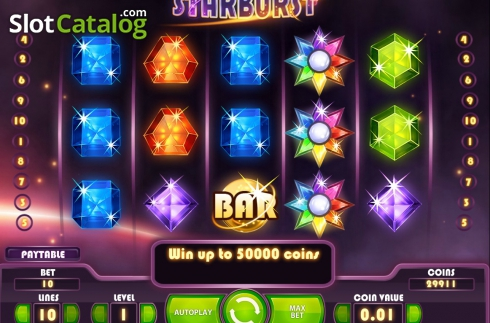 Screen2. Starburst (Video Slot from NetEnt)