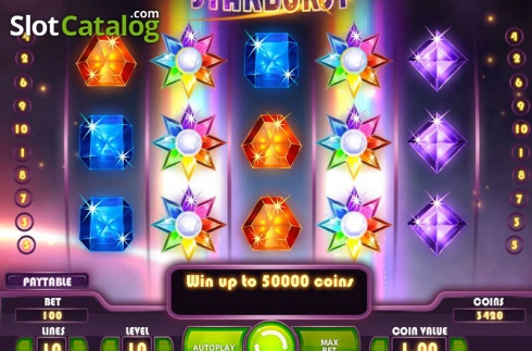 Screen3. Starburst (Video Slot from NetEnt)