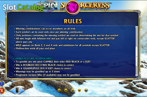 Betalingsgebyr 8. Spin Sorceress (Video Slot fra NextGen)