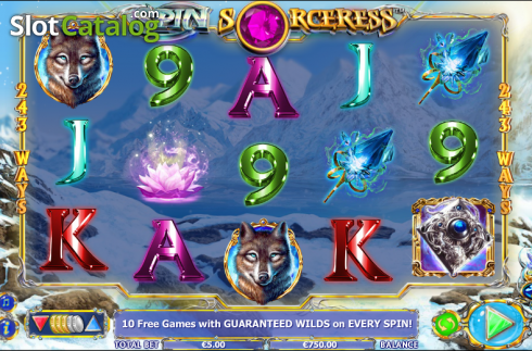 Reels. Spin Sorceress (Video Slot fra NextGen)