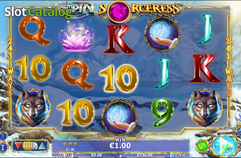 Vinde. Spin Sorceress (Video Slot fra NextGen)