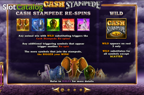 Paytable 1. Cash Stampede (Video Slots from NextGen)