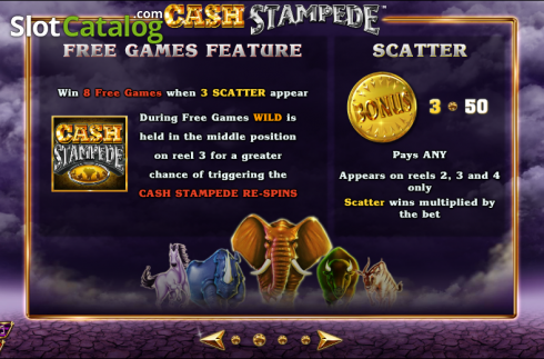 Paytable 2. Cash Stampede (Video Slots from NextGen)