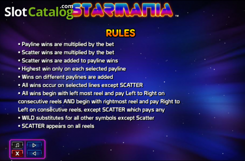 Paytable 4. Starmania (Video Slot from NextGen)