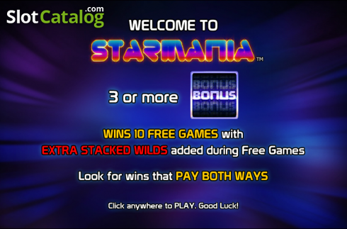 Game features. Starmania (Video Slot from NextGen)