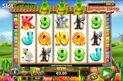 bobine. Dragon Drop (Video Slot a partire dal NextGen)